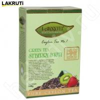 "Чай LAKRUTI ""Strawberry & KIWI"" зелёный Цейлонский с клубникой и киви"