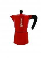 """Гейзерная кофеварка Bialetti """"Allegra"""" красная на 6 чашек"""