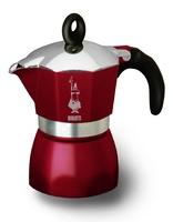"Гейзерная кофеварка Bialetti ""Dama Glamour"" бордовая, на 3 чашки"