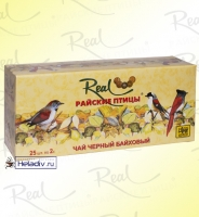 """Чай Real """"Райские птицы"""" чёрный байховый 25 пакетов х 2 г"""