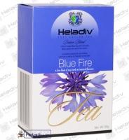 """Чай Heladiv """"Black Tea Blue Fire"""" чёрный FBOP (картон) с васильком, мятой, гуавой"""