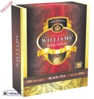 "Чай WILLIAMS ""Royal Ceylon"" черный Цейлонский пакетированный на чашку 100 пакетов x 2 г"
