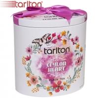 """Чай TARLTON """"CEYLON HEART"""" """"Сердце Цейлона"""" чёрный BOP1 Цейлонский Димбула, без добавок в ж/б 100 г"""
