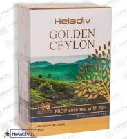 "Чай Heladiv ""GOLDEN CEYLON F.B.O.P."" чёрный ст. ФБОП (картон) Цейлонский с типсами"