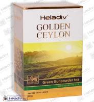 """Чай Heladiv """"GOLDEN CEYLON Green Gunpowder"""" """"Порох"""" зеленый Цейлонский (картон) особо мягкий"""