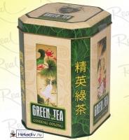"""Чай Real """"Райские Птицы"""" """"Женьшеневый Улун"""" зеленый Китайский, Улун с измельченным корнем женьшеня (в жести) 150 г"""