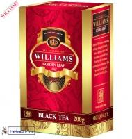 """Чай WILLIAMS """"Golden Leaf"""" черный Цейлонский O.P.A. крупнолистовой (картон) без добавок 200 г"""
