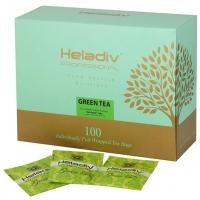 """Чай HELADIV """"Professional Line GREEN"""" зелёный в пакетиках САШЕ 100 пакетов x 2 г"""