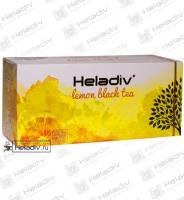 """Чай Heladiv """"LEMON Black Tea"""" чёрный с ароматом Лимона  25 пакетов x 2 г"""