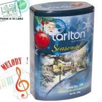 """Чай TARLTON """"The Blue Christmas Blend"""" """"Сияющее Рождество"""" Музыкальная коллекция, Зеленый OPA Цейлонский со вкусом Алое-Вера в ж/б 200 г"""