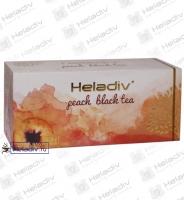 "Чай Heladiv ""Peach Black Tea"" чёрный с персиком 25 пакетов x 2 г"