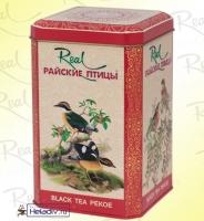 """Чай Real """"Райские Птицы"""" чёрный Pekoe, Пеко крупнолистой Цейлонский, в жестяной банке 200 г"""