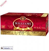 "Чай WILLAMS ""Royal Ceylon"" черный Цейлонский пакетировнный на чашку 25 пакетов x 2 г"