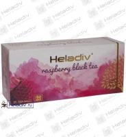 "Чай Heladiv ""Raspberry Black Tea"" чёрный с малиной 25 пакетов x 2 г"