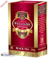 """Чай WILLIAMS """"Royal Ceylon"""" черный элитный Цейлонский ст. Pekoe (картон) без добавок"""