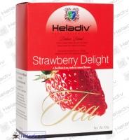 Heladiv Black Tea Strawberry Delight Чай FBOP чёрный Клубничное восхищение с маслами и кусочками клубники (картон) 100 г