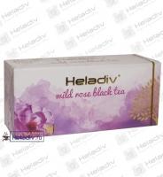 """Чай Heladiv """"Wild Rose Black Tea"""" чёрный с шиповником 25 пакетов x 2 г"""