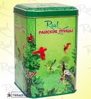"""Чай Real """"Райские Птицы"""" зелёный элитный Цейлонский Pekoe (в жестяной банке) 200 г"""