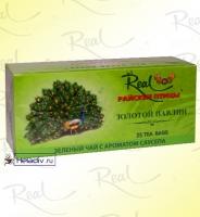 """Чай Real """"Райские Птицы"""" """"Золотой павлин"""" зеленый с ароматом сау-сэпа 25 пакетов x 2 г"""