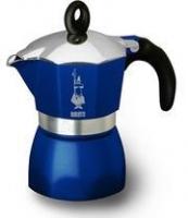 Гейзерная кофеварка Bialetti Dama Glamour синяя (на 3 чашки)