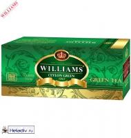 "Чай Williams ""Ceylon Green"" зеленый Цейлонский пакетированный на чашку 25 пакетов x 2 г"