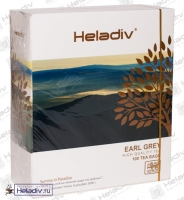 "Чай Heladiv ""EARL GREY Black Tea"" чёрный с ароматом бергамота  100 пакетов x 2 г"