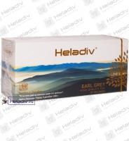 "Чай Heladiv ""EARL GREY Black Tea"" чёрный с ароматом бергамота 25 пакетов x 2 г"