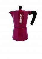 """Гейзерная кофеварка Bialetti """"Allegra"""" пурпурная на 6 чашек"""