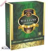 "Чай WILLAMS ""Ceylon Green"" ""Зелёный"" зеленый Цейлонский пакетированный на чашку 100 пакетов x 2 г"