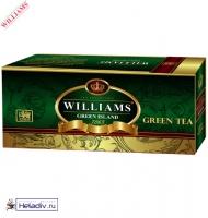 """Чай WILLIAMS """"Green Island"""" """"Зеленый Остров"""" зеленый Цейлонский отборный 25 пакетиков по 1,5 г"""