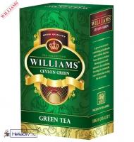 "Чай WILLIAMS ""Ceylon Green"" зеленый Цейлонский листовой ст. Pekoe (Пеко) без добавок 100 г"
