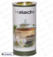 """Чай Heladiv """"Green Tea Jasmine"""" зелёный высокогорный Цейлонский с жасмином (туба) 100 г"""