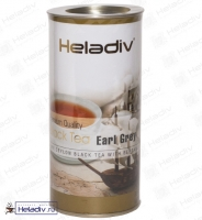 "Чай Heladiv ""Black Tea Earl Grey"" Цейлонский чёрный с ароматом бергамота (туба) 100 г"