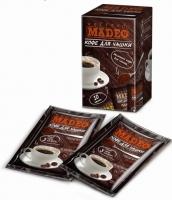 """Кофе MADEO """"По Турецки"""" молотый для заваривания в чашке в индивидуальных пакетиках (10 шт.×10 г) 100 г"""