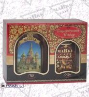 Подарочный набор MARKK Старые города Руси - Москва растворимый кофе 95 г + чай в жестяной банке 95 г