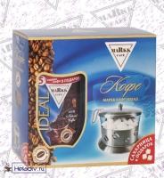 """Подарочный набор Markk """"Cafe IDEAL"""" Маркк Кафе Идеал растворимый кофе с добавлением молотого 200г + сахарница в подарок"""