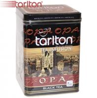 "Чай TARLTON ""SUPER OPA"" Tea infusion чёрный OPA крупнолистовой цейлонский в ж/б 250 г"