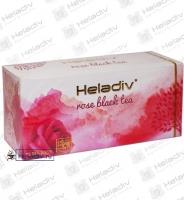 """Чай Heladiv """"ROSE Black Tea"""" чёрный с ароматом розы 25 пакетов x 2 г"""